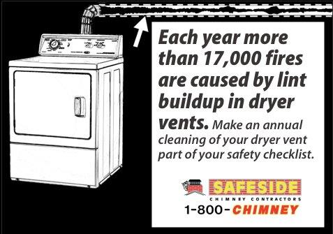 Dryer Vent Cleaning by Safeside Chimney of CT